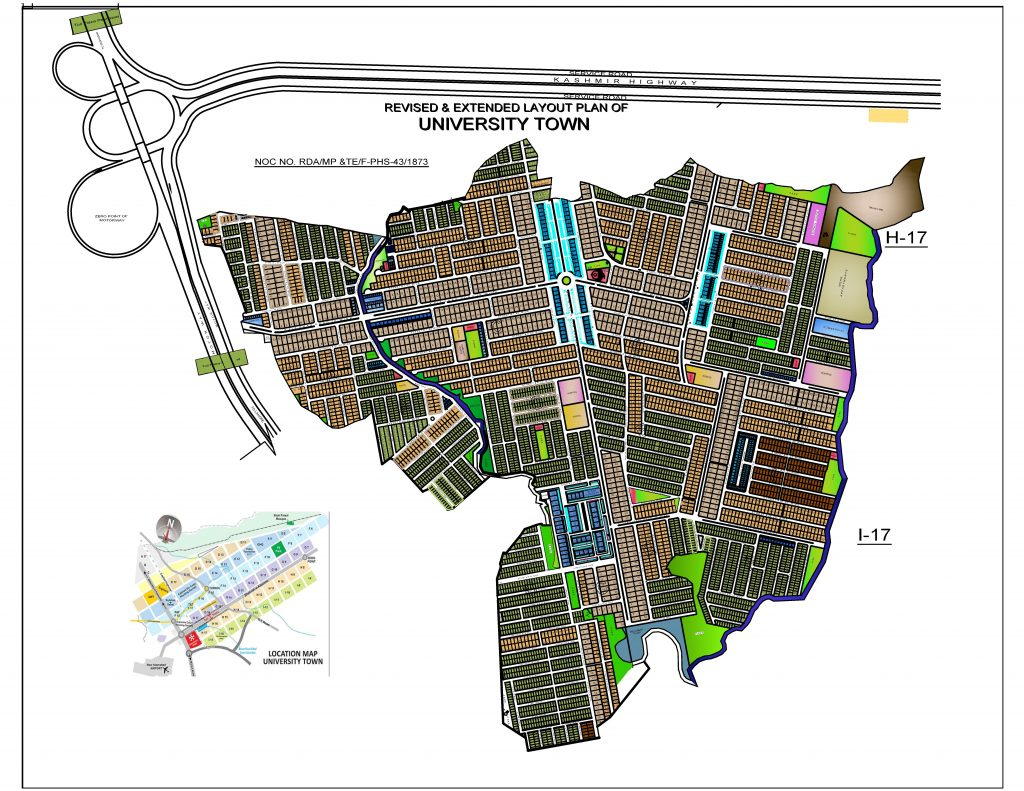 University Town Complete Layout Plan
